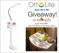 OttLite Floor Lamp Giveaway on Moogly! US only, ends 12/18/14, see post for details!