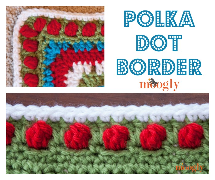 Free #Crochet Pattern: Polka Dot Border Edging!
