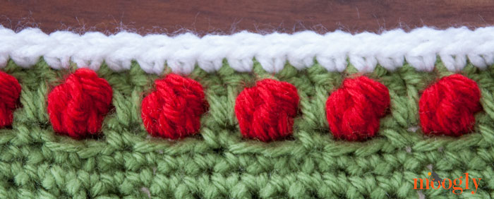 Polka Dot Border - free #crochet edging pattern on Moogly!