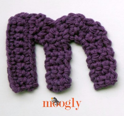 Free crochet patterns the moogly lowercase alphabet moogly lowercase alphabet free crochet patterns letter m thecheapjerseys Images