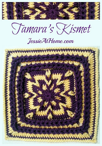 Tamara's Kismet - free #crochet square pattern by Jessie At Home!