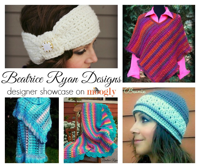 Beatrice Ryan Designs Designer Showcase on Moogly - includes 5 FREE #crochet patterns!