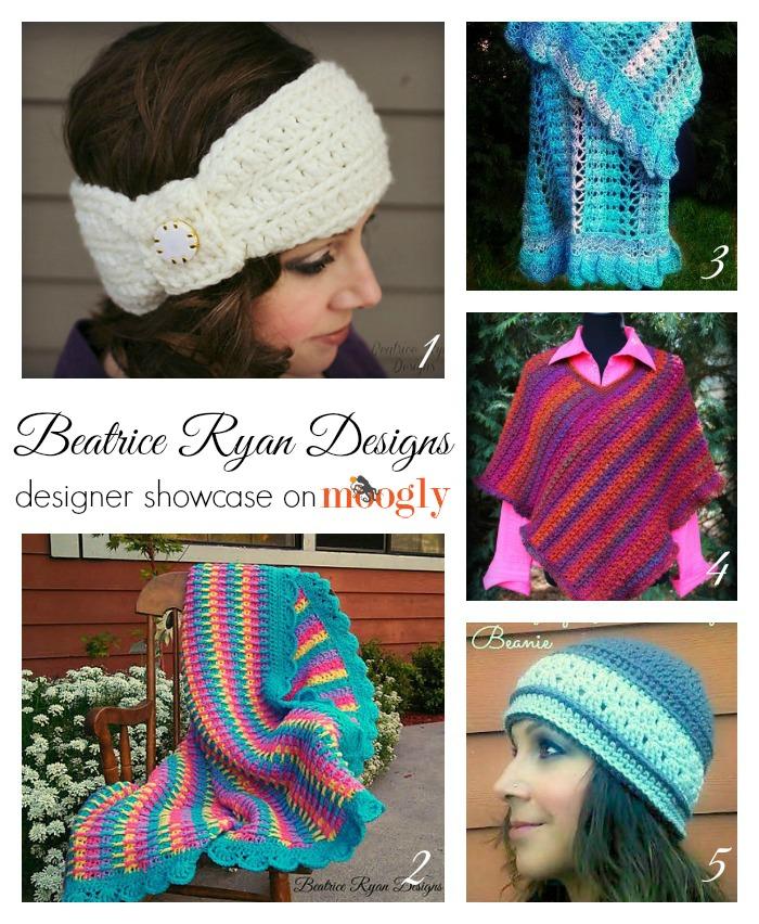Beatrice Ryan Designs Designer Showcase on Moogly - includes 5 FREE #crochet patterns