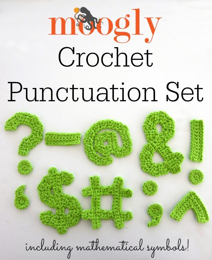 The Moogly Crochet Punctuation Set Moogly