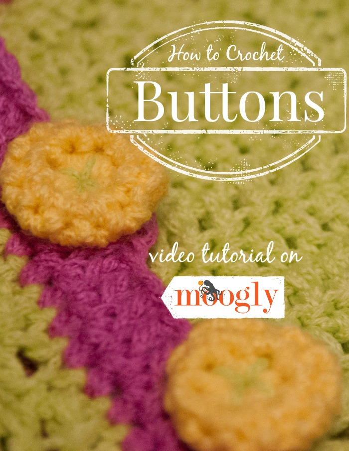 How to Crochet Buttons - a video tutorial on Moogly! Right and Left handed versions included! #crochet
