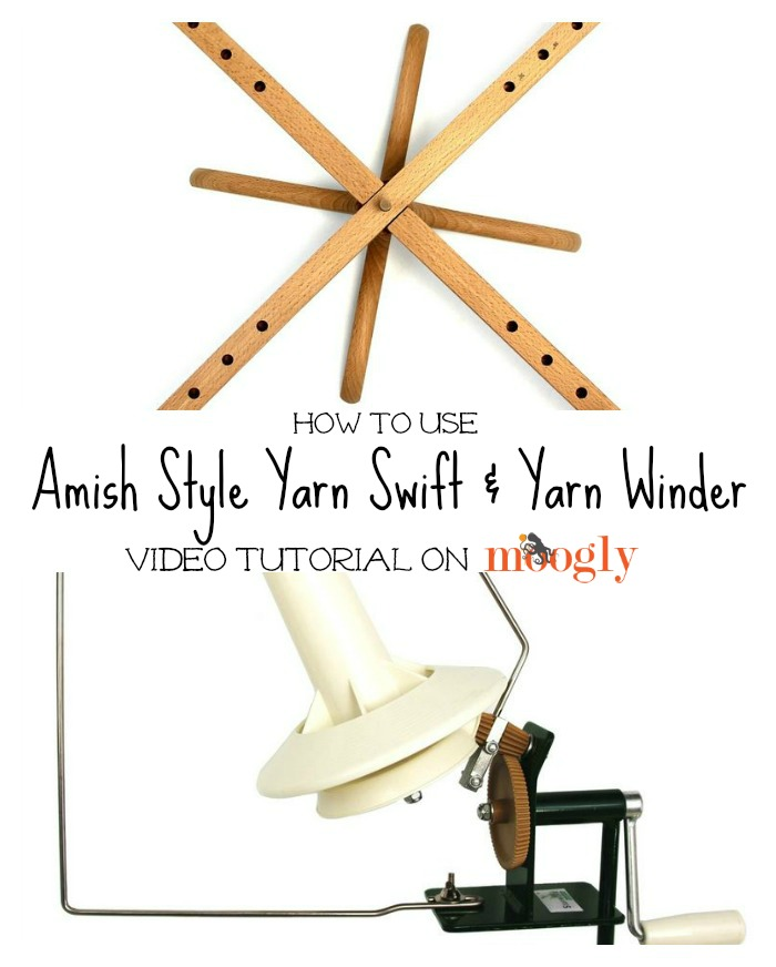 How to Use a Swift and Yarn Ball Winder - video on Moogly!