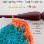 How to #Crochet: Increasing with Post Stitches, or working 2 post stitches into 1 stitch! Right and left handed video tutorials on Moogly!