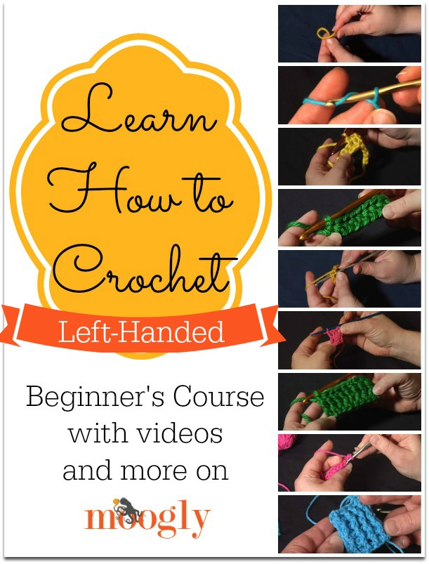 Crocheting Instructions For Left Handers : Learn How to #Crochet Left Handed! Video tutorials on Mooglyblog.com!