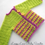 Loopy Love Baby Sweater - free #crochet pattern in 3 sizes on Moogly!