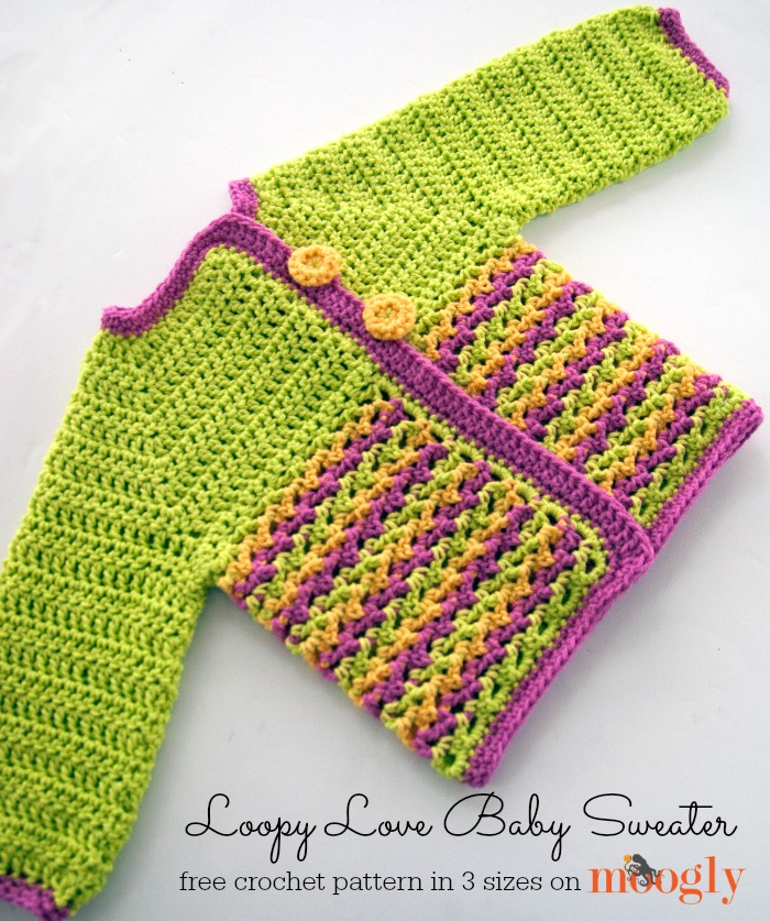 Loopy Love Baby Sweater