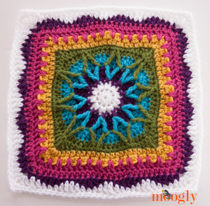 The 2015 Moogly Afghan Crochet Along Block 2 Moogly