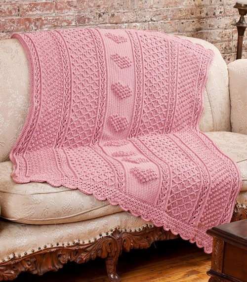 Crochet Heart Afghan Pattern Free : All About the Blankets... with Texture! - moogly