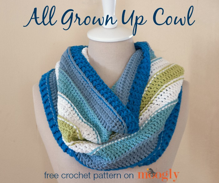 All Grown Up Cowl - free #crochet pattern on Moogly!