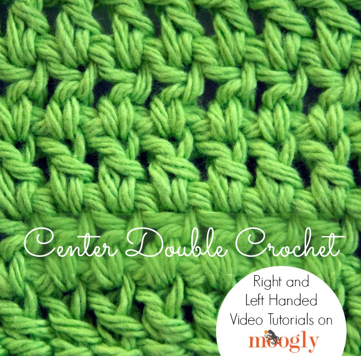 Center Double Crochet - right and left handed video tutorials on Moogly!
