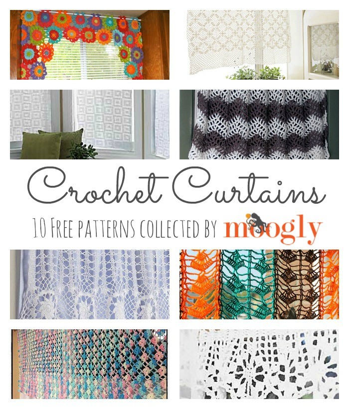 Crochet Flower Curtain Free Pattern : 10 Free #Crochet Curtain Patterns - Collection by Moogly!