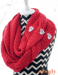 Madly In Love Infinity Scarf and Cowl - free #crochet pattern on Moogly!
