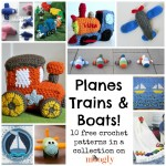 Free Crochet Patterns on the Move: Planes, Trains, and Boats!