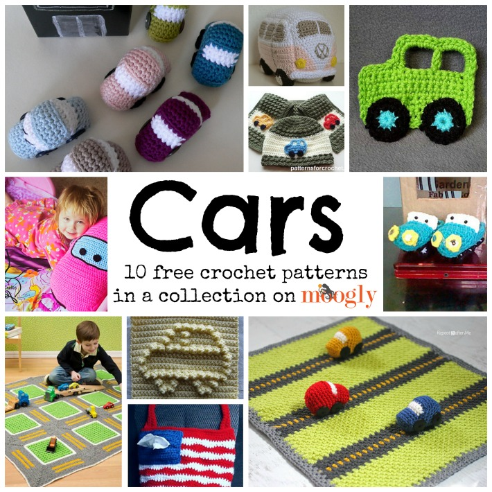 Cute and Cuddly Crochet Car Patterns! - moogly
