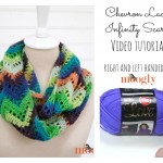 Chevron Lace Infinity Scarf - Video Tutorials, Written Pattern, and Chart on Moogly!