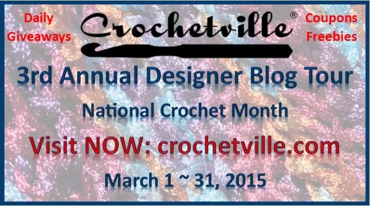 Crochetville NatCroMo Designer Blog Tour 2015!