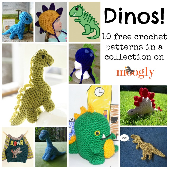 Roar! 10 Free #Crochet Dinosaur Patterns! - Moogly
