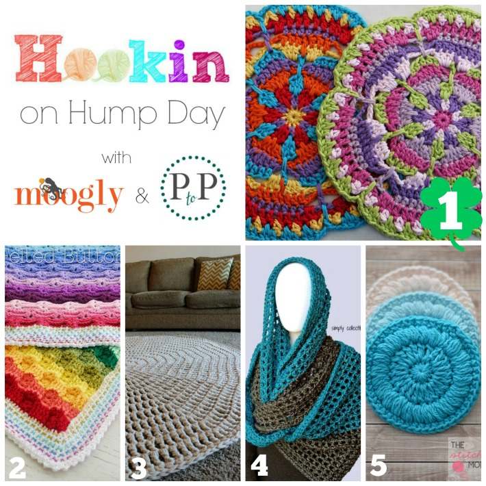 HOHD 91: Hookin On Hump Day with Moogly and Petals to Picots - the best projects from around the web!