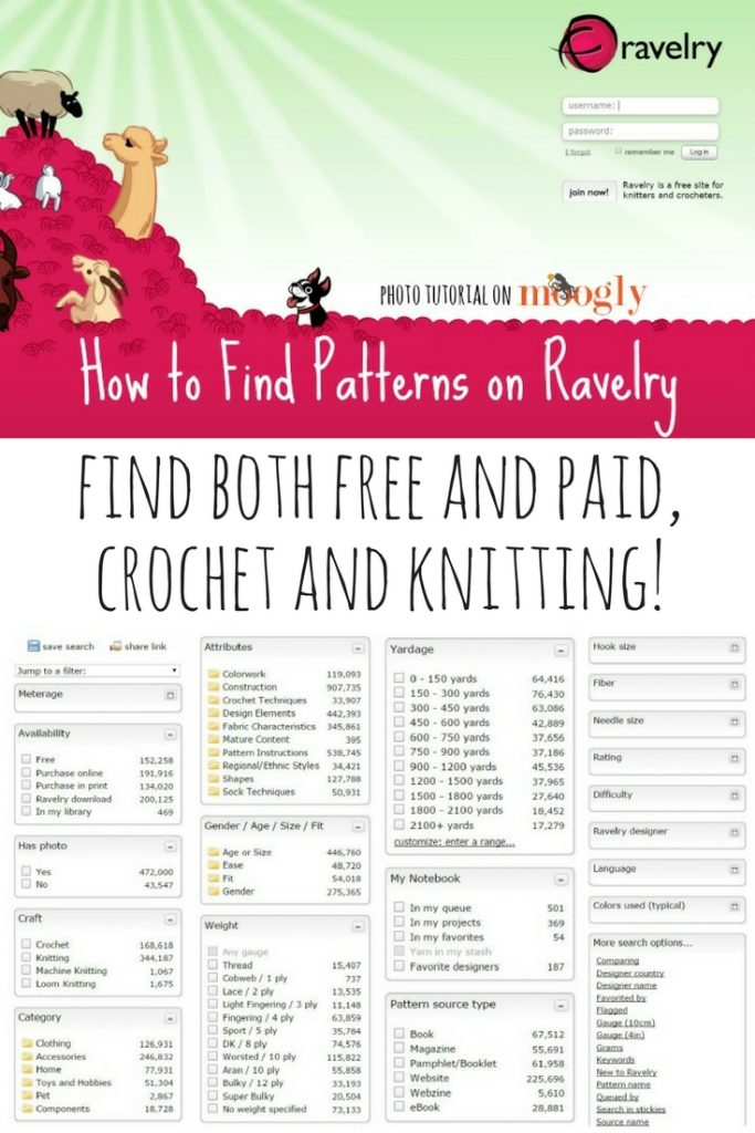 How to Find Patterns on Ravelry - Tutorial on Moogly!