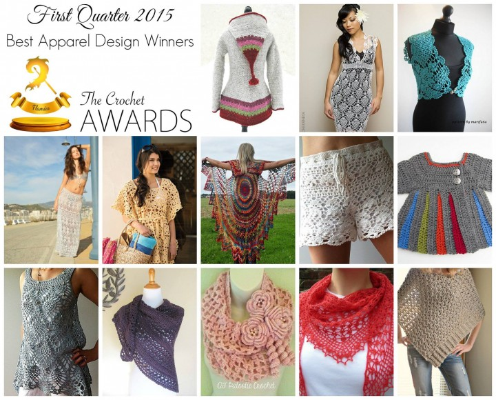 The Winners of the 2015 Apparel Crochet Awards! ♥ Links to all the winning crochet patterns and runners up too!