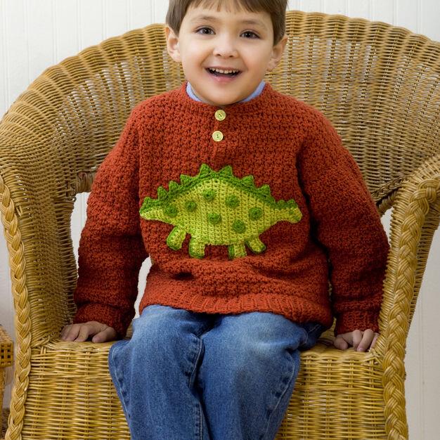 Boy's Dinosaur Sweater - free crochet pattern