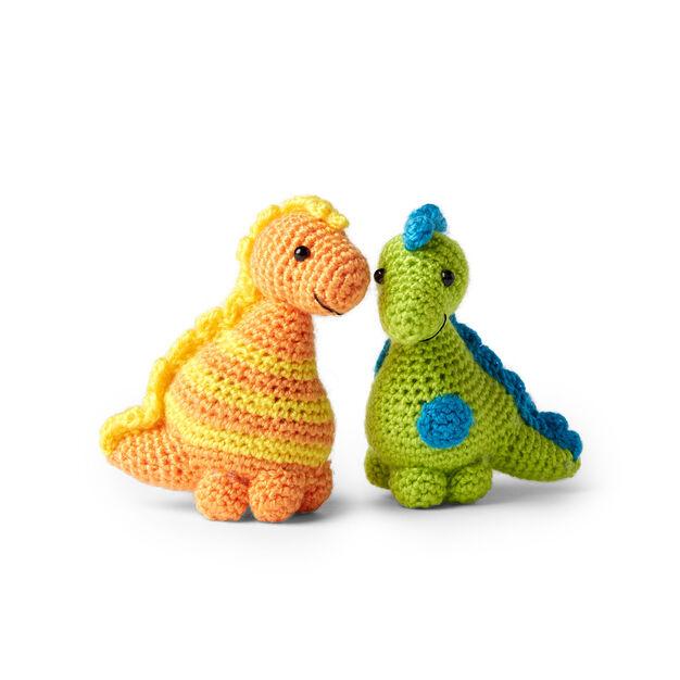 Stellan and Stanley - free crochet dinosaur patterns