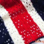 Red White and Baby Blanket: for the World's Biggest Stocking!