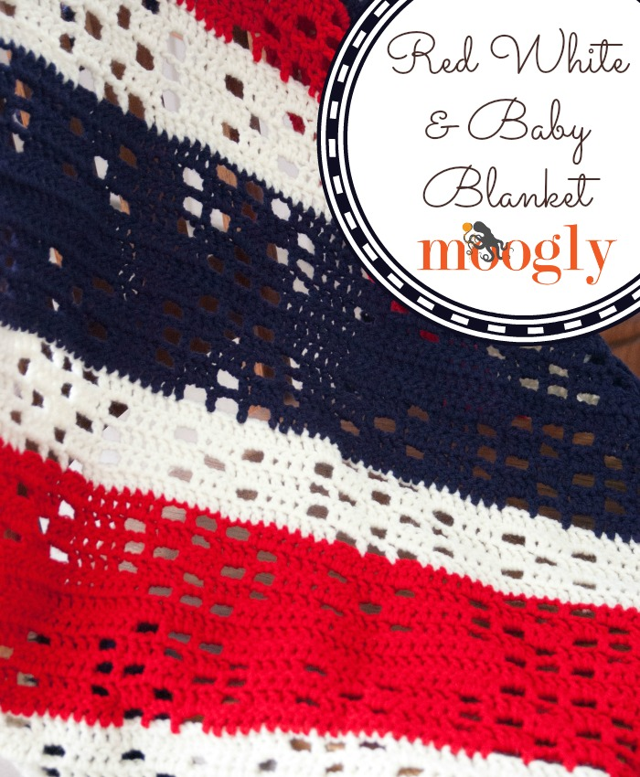 Red White and Baby Blanket - FREE #crochet pattern on Moogly!
