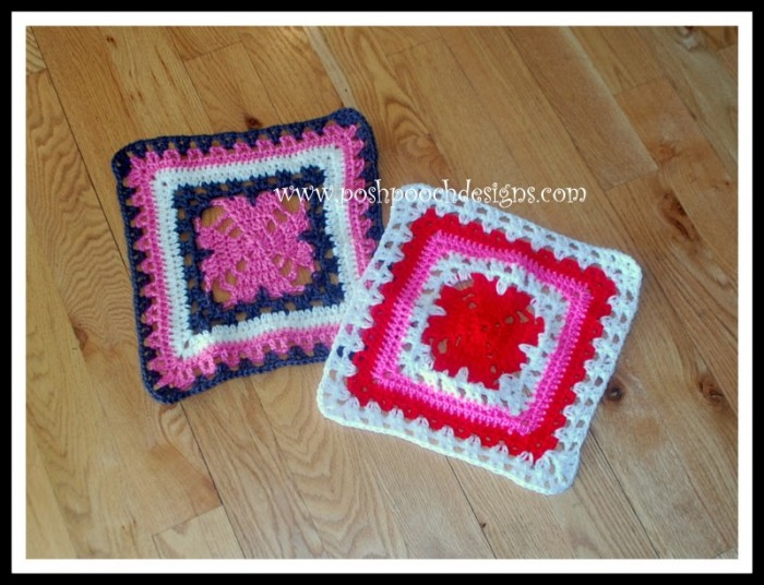 Unbroken Hearts by Posh Pooch Designs! Block #5 in the Moogly Afghan 2015 CAL!