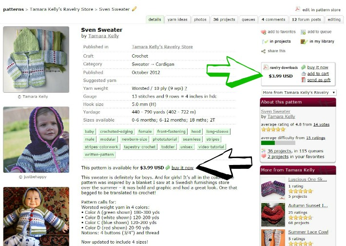 How to Find #Crochet and #Knit Patterns on Ravelry - photo tutorial on Moogly!