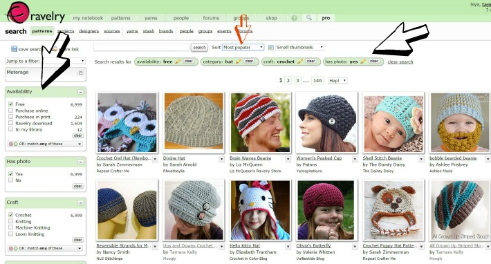 How To Find Crochet And Knit Patterns On Ravelry