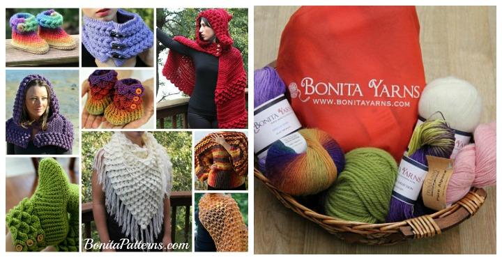 Gorgeous Patterns and Yarn from Bonita Patterns and Yarns!