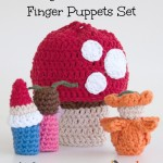 Magical Toadstool Finger Puppets Set - free crochet patterns on Mooglyblog.com!