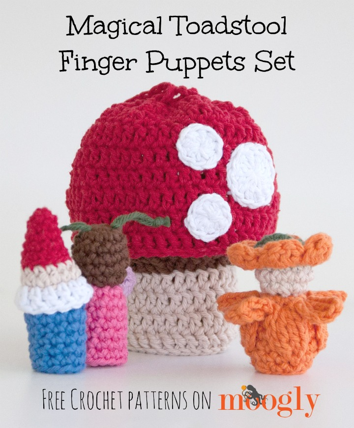 Magical Toadstool Finger Puppets Set Moogly