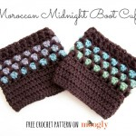 Moroccan Midnight Boot Cuffs - FREE crochet pattern on Moogly!