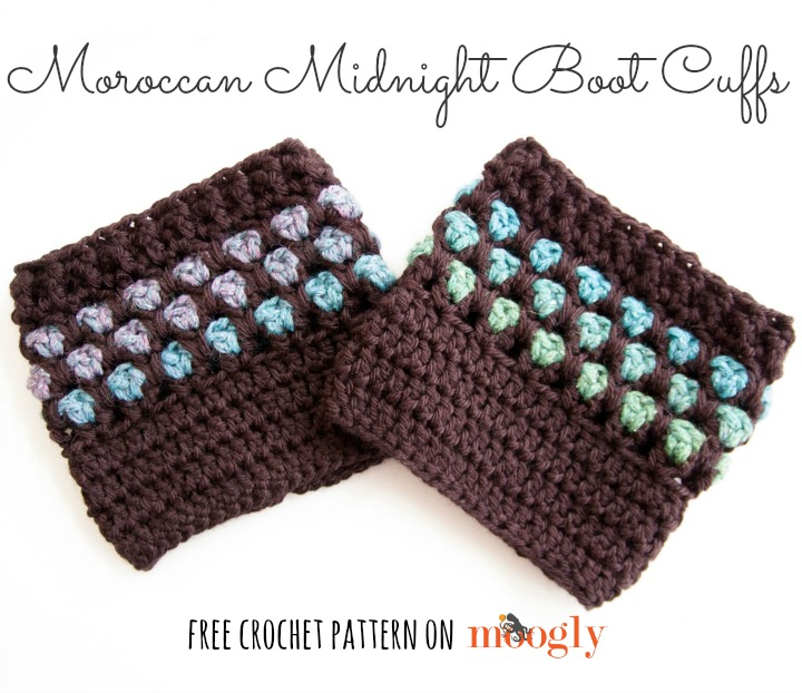 Moroccan Midnight Boot Cuffs Moogly