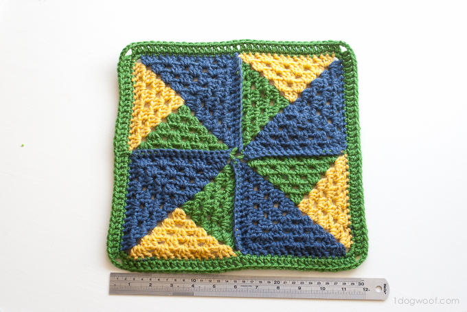 Pinwheel Afghan Square- Block #7 in the Moogly Afghan CAL!