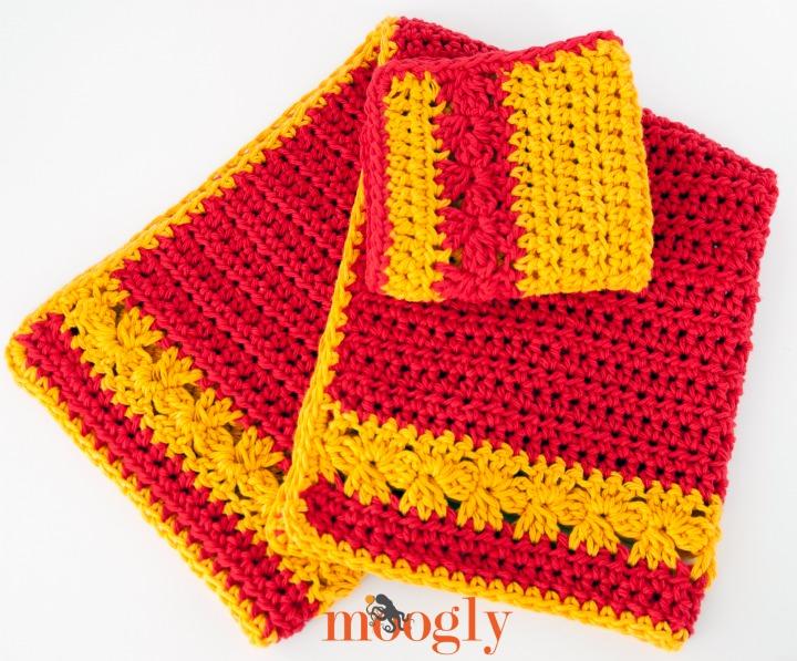 Autumn Blooms Set - crochet pattern by Moogly!