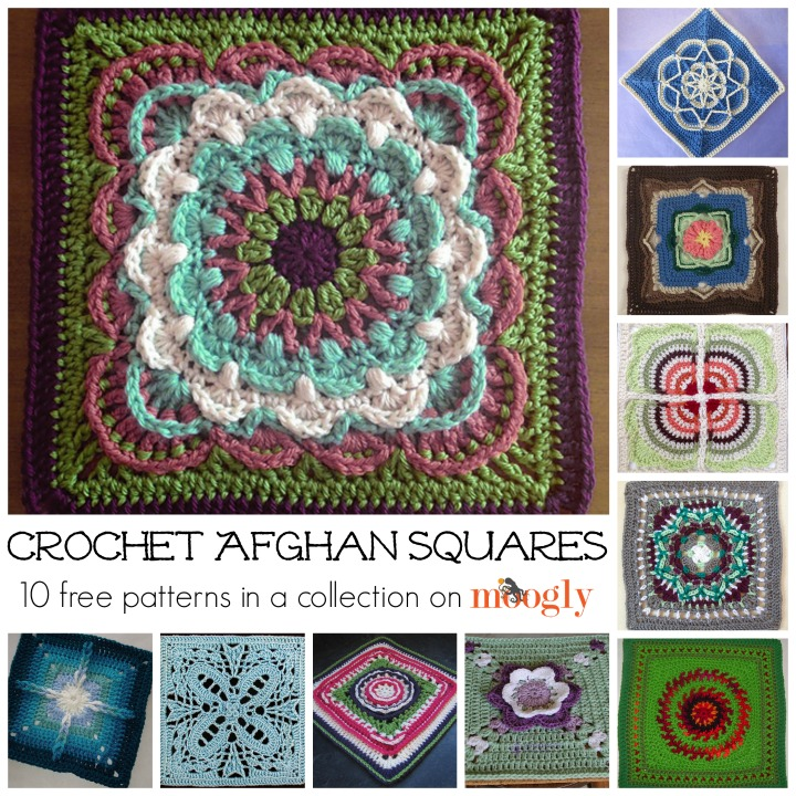 Beautiful, Free, and New Crochet Afghan Squares! - moogly