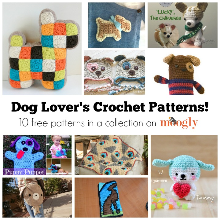 Free Crochet Patterns for Dog Lovers - on Mooglyblog.com!