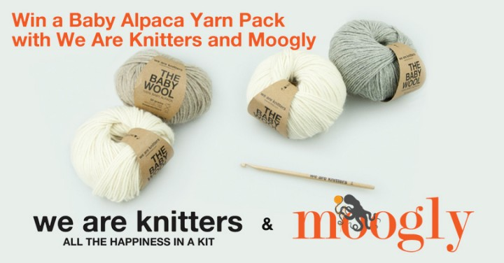 We Are Knitters Giveaway on Moogly! Win 4 balls of Alpaca yarn and a wooden crochet hook! Ends 6/10/15, see post for details!
