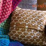 Sunshine Lattice Crochet Pillow