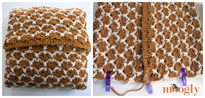 Sunshine Lattice PIllow - free crochet pattern on Mooglyblog.com!