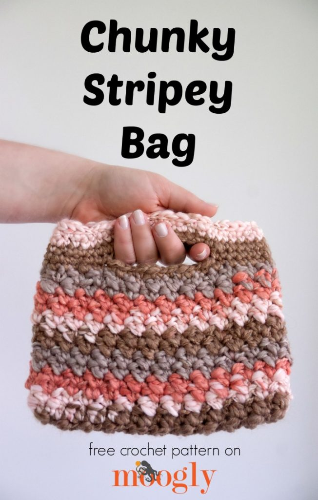 Free Crochet Pattern Chunky Stripey Bag Moogly
