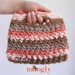 Chunky Stripey Bag - FREE #crochet pattern on Mooglyblog.com! #diy #yarnspirations #chunky #pattern
