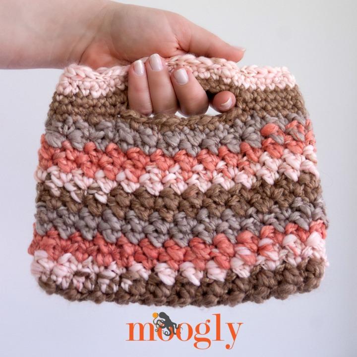 Free Crochet Pattern Chunky Stripey Bag Moogly